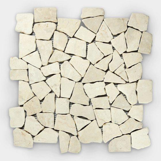 Stabigo Mosaic S White Cream Marble-0